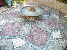 Mosaik für eine hübsches Blumenmuster