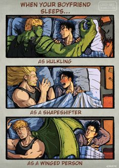 cris-art: On this week I happened about what would happens if Teddy dreams about stuff like going on missions as Avenger on the bed with Billy. And I made this comic. I hope you like it! :P