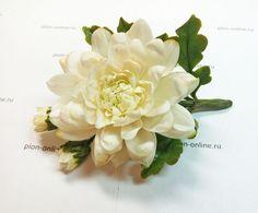 Хризантема « Керамическая флористика. Цветы из холодного фарфора. Уроки и…