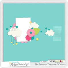 free digital scrapbook template awesome freebies pinterest