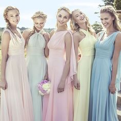 The 2015 Collection by Kelsey Rose. – Wedding Inspirasi The 2015 Collection by Kelsey Rose. The 2015 Collection by Kelsey Rose. Mismatched Bridesmaid Dresses, Beautiful Bridesmaid Dresses, Wedding Bridesmaid Dresses, Wedding Party Dresses, Party Wedding, Wedding Ideas, Party Gowns, Grecian Bridesmaid Dress, Rainbow Bridesmaid Dresses