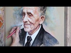Pastel portrait, Portrait painting, Old man portrait - YouTube