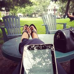 Intriguing shot, @ReadByJenni, but I can't tell what you are reading! #fridayreads : )