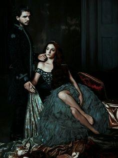 Jon Snow x Sansa Stark. Targaryen men always fell for Stark women. Game Of Thorns, Game Of Thrones Artwork, The North Remembers, Got Memes, Sansa Stark, High Fantasy, Ice Queen, Winter Is Coming, Photo Manipulation