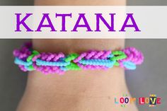 awesome How to Make the Rainbow Loom Katana Bracelet Rainbow Nail Art, Rainbow Band, Loom Love, Money Origami, Rainbow Loom Bracelets, Braided Bracelets, Cord Bracelets, Loom Charms, Ribbon Sculpture
