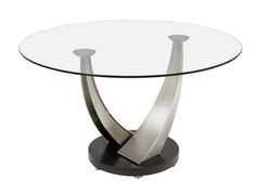 Cool Round Glass Coffee Table for Office