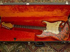 1964 Fender Stratocaster w/ OHSC - Pre-CBS, original, Fiesta Red Strat w/ case | eBay