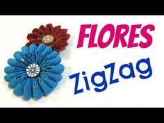 Tutorial: Flores zigzag. Zigzag flowers.