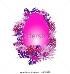 #Easter #egg pink - stock photo