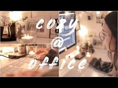 cozy @office - YouTube Cozy Office, Table Decorations, Instagram, Interior, Youtube, Home Decor, Cup Of Coffee, Decoration Home, Indoor