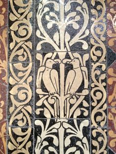 Gorgeous encaustic floor tile pattern at Evesham cctphoto2012 @mrsmcindoe  Great photo from Andy Marshall