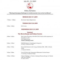 """Caribbean Cardiology Conference July 28 – 31, 2009 Hilton, Barbados """"Meeting Emerging Challenges to Cardiovascular Care in the Caribbean"""" MONDAY JULY 27, 20. http://slidehot.com/resources/ccs-conference-barbados.9887/"""