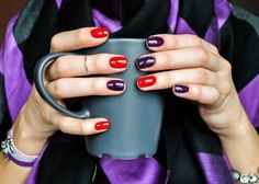 """Figure out even more relevant information on """"gel nail designs for fall autumn"""". Have a look at our site. Love Nails, Fun Nails, Shellac Nails, Nail Polish, Acryl Nails, Gel Nail Designs, Nails Design, Super Nails, Purple Nails"""