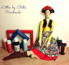 Hecho a la orden / 68cm de altura.  Aquí os presento el estilo de muñeca de Frida Kahlo Tilda de versión, el pintor mexicano conocido por sus