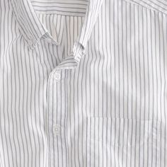 Secret Wash short-sleeve shirt in Tannen stripe