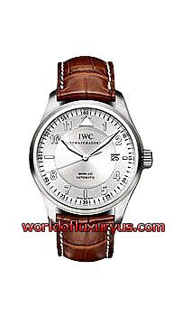 IW325502 -  This IWC Spitfire Mark XVI Pilots Watch in stainless steel features a 39mm case, silver dial, and a brown leather bracelet. The IWC Mark XVI Spitfire Pilots Watch also features an automatic movement with date and sweep seconds function. This watch is water resistant to 60 meters. - See more at: http://www.worldofluxuryus.com/watches/IWC/Discontinued-Models/IW325502/185_789_966.php#sthash.MJuxkWhY.dpuf