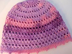Pink Lilac Purple summer beanie Cotton hat Women Summer Hats