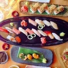 Chutoro, sea urchin, abalone, spicy tuna, wagyu beef tataki, grapefruit green tea and more. I LOVE SUSHI!  See more on www.instagram.com/kisforkani