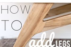 Adding Legs to a Mid Century Modern Dresser   How To