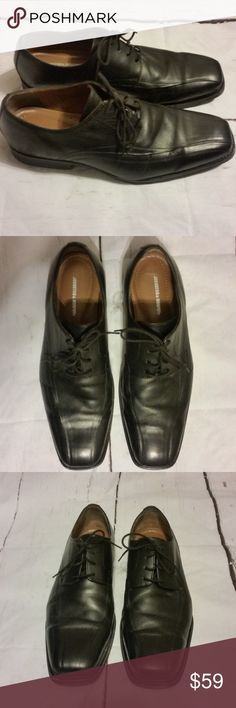 Johnston & Murphy Mens Oxford  14W Black Leather Johnston & Murphy Men's Oxford Shoes Lace Up Black Leather  Size 14W Johnston & Murphy Shoes Oxfords & Derbys