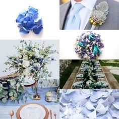 A blue and green wedding is not a colour combination we see often, however it's visually pleasing. 😍 it's perfect for those autumn weddings. Green Wedding, Fall Wedding, Autumn Weddings, Dusty Blue, Dried Flowers, Color Combinations, Confetti, Wedding Planning, Turquoise
