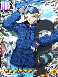 Fairy Tail Brave Guild... Sting snowboards?
