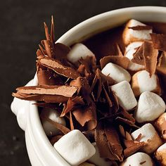 Chocolate Espresso Soup with Marshmallows