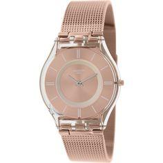 Swatch Women's 'Skin' Rose-gold Stainless-steel Swiss Quartz Watch - Overstock™ Shopping - Big Discounts on Swatch Swatch Women's Watches