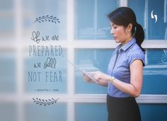 If we are prepared, we shall not fear. - Quentin L. Cook  👩‍💻 #quote #motivation #inspiration #entrepreneur