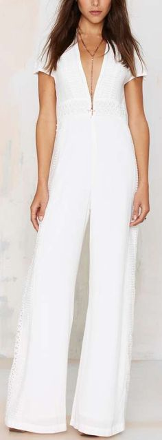 crochet detail jumpsuit