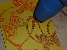 stamping with stencils