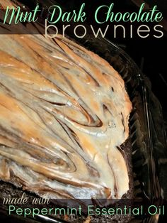 Mint Dark Chocolate Brownies with Peppermint Essential Oil