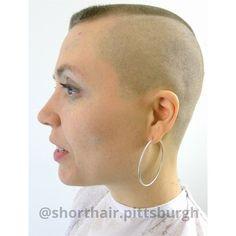 High And Tight Haircut, Flat Top Haircut, Girls With Shaved Heads, Clipper Cut, Bald Hair, Bald Women, Hair Tattoos, Hair Dye Colors, Short Styles