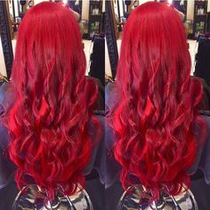 Hair Extensions, Olaplex and Pravana Red - Hair Colors Ideas Bright Red Hair, Bright Hair Colors, Red Hair Color, Cool Hair Color, Colorful Hair, Peekaboo Hair, Red Hair Extensions, Beautiful Red Hair, Big Hair