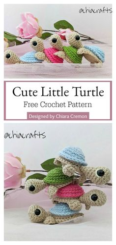 Cute Little Turtle Free Crochet Pattern - Cool Creativities Crochet Easter, Crochet Fish, Easter Crochet Patterns, Crochet Square Patterns, Crochet Amigurumi Free Patterns, Free Crochet, Beach Crochet, Crochet Animals, Crochet Turtle Pattern Free