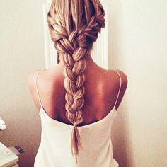 French braided.