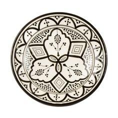 black white moroccan plate - Google Search