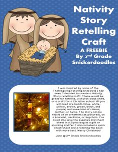 FREE Nativity Story Retelling Craft-also included directions sheet and flip book by 2nd Grade Snickerdoodles