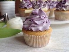 Vanilkové cupcakes s borůvkami Fondant Cupcakes, Brownie Cupcakes, Mini Cupcakes, Muffin Bread, Carrot Cake, Cake Art, Food Art, Sweet Recipes, Good Food