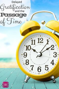 Did you know we, as human beings, we are unique among the animal kingdom because of our ability to consciously consider the passing of time? http://www.budgetblonde.com/2015/03/01/delayed-gratification-and-the-passage-of-time/