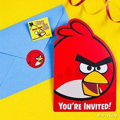 Really make your Angry Birds Invitations stick by including some save-the-date stickers inside as a helpful reminder.
