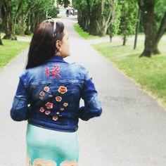 """14 Likes, 1 Comments - @ces_fernando on Instagram: """"I hope she really liked it. #handembroidery #bordado #bordadoamao #bordadoamano #cherryblossom"""""""