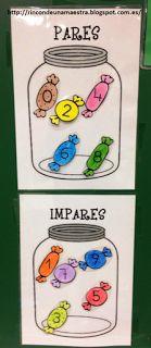 Rincón de una maestra: Carteles para el aula de los números pares e impares