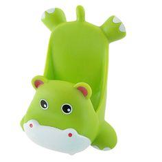 TOOGOO(R) Mobile Phone Green Plastic Cartoon Hippo Shape Stand Holder