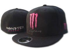 pink n black monster energy hat!!