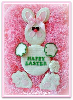 Huge Easter Bunny Cookie Box Tutorial