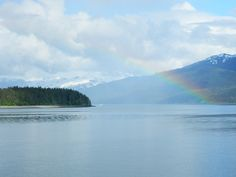 DSCN1022 by HeartfeltinAK, via Flickr  Sara's photos of Alaska: Rainbow over Island, Lynn Canal 2012