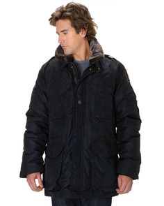 PARAJUMPERS Portland Men Black Masterpiece Down Bomber Jacket