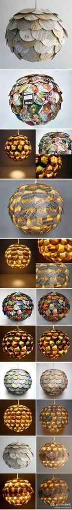 Cadeau Creatief met papier (cirkel lampenkap)