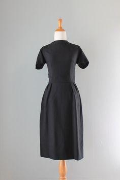 Vintage 1960s Black Linen Dress (Frederick Nelson - Seattle)